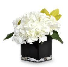 white hydrangea bouquet emilio robba boutique usa illusion flowers flower
