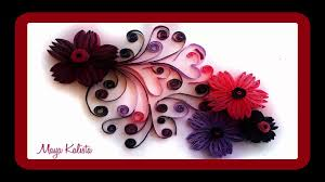 how to make diy paper quilling designs art flower design