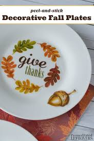 plates that stick to table decorative fall plates tutorial