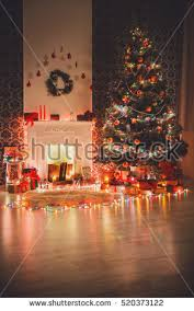 Christmas Livingroom by Christmas Tree Fireplace Stock Images Royalty Free Images