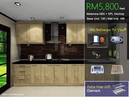 Melamine Abs Kitchen Cabinet Bar Cabinet - Cls kitchen cabinet