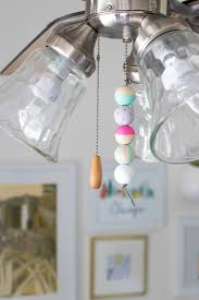 Mason Jar Ceiling Fan by Upgrade Your Space With A Simple Beaded Fan Pull Curbly