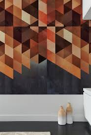create a captivating accent wall with geometric patterned wall