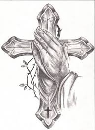 cross drawings praying tattoos designs ideas and