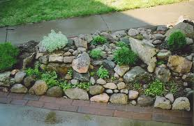 Small Rocks For Garden Rock Garden And A Sidewalk We Built A Simple Rock Garden To