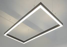 suspended linear light fixtures suspended led rectangle linear light fitting sera technologies ltd