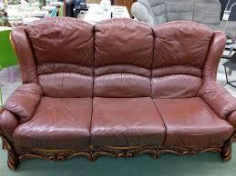 troc canapé canape cuir bois occasion le troc