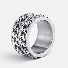 men s ring personalized gift men s ring stainless steel engraved jewelry