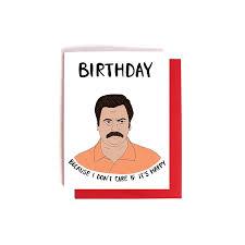 birthday card for best friend amazon com ron swanson birthday card birthday because i don u0027t