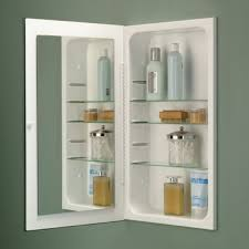 In Wall Bathroom Mirror Cabinets by Bathroom Metal Recessed Medicine Cabinet Built In Shelf With
