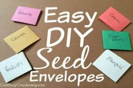 seed envelopes easy diy seed envelopes