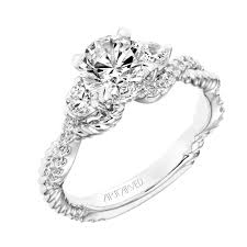 three stone engagement rings new for our spring collection danica contemporary diamond three