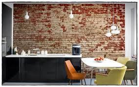 modele papier peint cuisine complete pour manger prix architecture uni tendance look idee