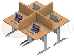 marguerite bureau marguerite 4 postes identiques en largeur 80 cm plateaux mélaminés