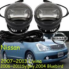 2006 2011 sylphy fog light bluebird led livina fog lamp free ship