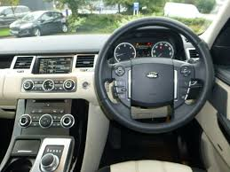 range rover steering wheel used white land rover range rover sport for sale cheshire