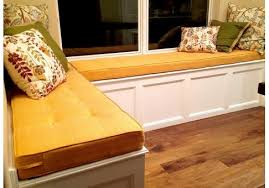 custom window seat cushion deluxe with buttons