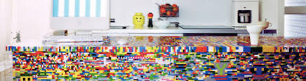 lego kitchen island lego kitchen island made of 20 000 lego bricks throubibar s