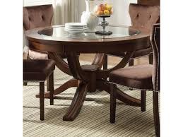Formal Dining Table by Acme Furniture Kingston Round Transitional Formal Dining Table
