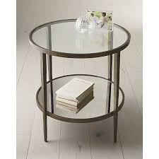 round metal side table clairemont round side table side tables crate and barrel and round