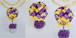 college graduation centerpieces graduation party centerpiece lsu tigers centerpiece in