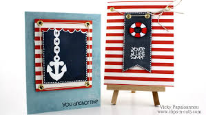 how to nautical cards n cuts