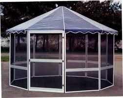 octagonal free standing screen rooms gazebo style screen
