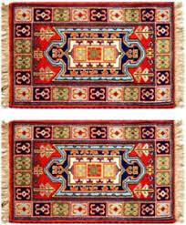 tappeti kazak 2 x tappeti kazak semiantiche seta 90 x 60 cm