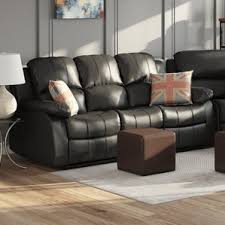 Contemporary Reclining Sofa With Topstitch sofa recliners you u0027ll love wayfair