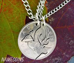 coin jewelry necklace images Buck and doe canadian quarter necklace set woodland jewelry cut jpeg