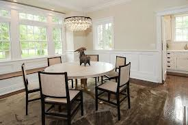 Kitchen With Wainscoting Horizontal Wainscoting Dining Room Eclectic With Dark Stained Wood