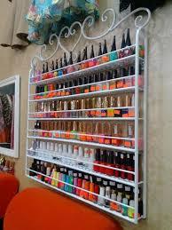2017 wrought iron nail polish display shelf nail salons cosmetics