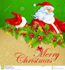 imagenes de santa claus feliz navidad santa claus en feliz navidad ilustración del vector ilustración de