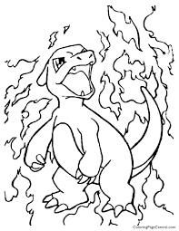 pokemon u2013 charmeleon coloring 01 coloring central