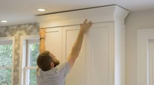 how to install cabinets with uneven ceiling cabinet crown molding rogue engineer crown molding