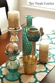 Teal Room Decor Dining Table Centerpieces For Glass Dining Table Ideas Photo