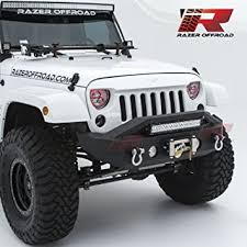 jeep wrangler black lights amazon com razer auto black textured rock crawler stubby front