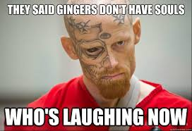 Ginger Meme - they said gingers don t have souls who s laughing now serial