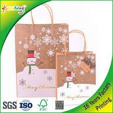 christmas paper bags kraft paper bags with custom printing