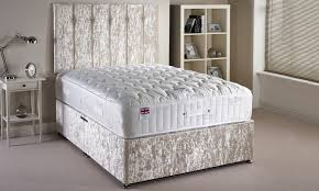 Divan Bed Set Velvet Divan Bed Set Groupon Goods