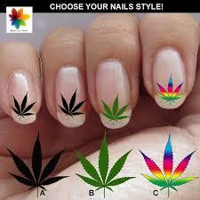 marijuana nail art marijuana leaves leaf nail art 60 waterslide