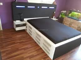 How To Make A Platform Bed Out Of Pallets - home design dazzling beds made out of pallets recycled pallet