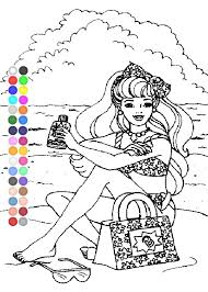 free barbie coloring pages kids barbie coloring pages
