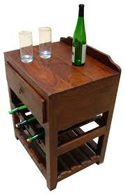 Storage End Table Side Table Side Table Wine Rack Buy Wooden Bistro With Storage A