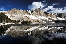 Wyoming travels images Marie lake and medicine bow peak snowy range mountains wyoming jpg