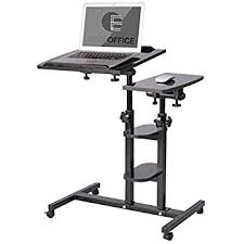 Mobile Laptop Desk Qwork Mobile Laptop Desk Cart Tilting Table With Dual