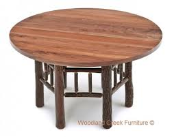Hickory Table Top Log Dining Furniture Dining Table Reclaimed Wood Tables