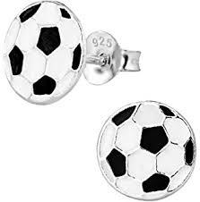hypoallergenic stud earrings hypoallergenic sterling silver soccer stud