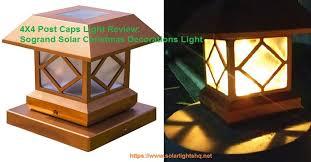 4x4 post cap lights 4x4 post caps light review sogrand solar christmas decorations light