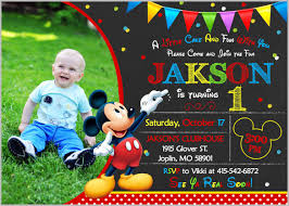 free mickey mouse birthday invitation templates mickey mouse